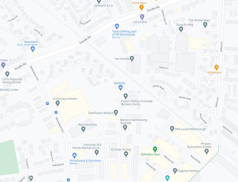 Westone map
